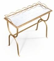 494103-G Jonathan Charles Fine Furniture JC Modern - Luxe Eglomise & Gilded Iron Drinks Table