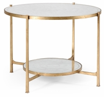 494104-G Jonathan Charles Fine Furniture JC Modern - Luxe Eglomise & Gilt Iron Centre Table