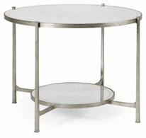 494104-S Jonathan Charles Fine Furniture JC Modern - Luxe Eglomise & Silver Iron Centre Table