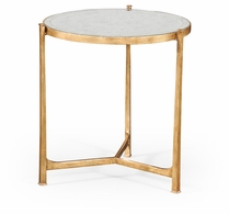 494140-G-GES Jonathan Charles Fine Furniture JC Modern - Luxe Large Eglomise & Gilded Iron Lamp Table