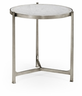 494140-S-GES Jonathan Charles Fine Furniture JC Modern - Luxe Large Eglomise & Silver Iron Lamp Table