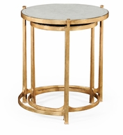 494141-G Jonathan Charles Fine Furniture JC Modern - Luxe Eglomise & Gilded Iron Round Nest Of Tables