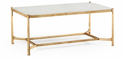 494144-G-GES Jonathan Charles Fine Furniture JC Modern - Luxe Eglomise & Gilded Iron Rectangular Coffee Table