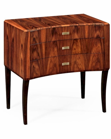 494152 Jonathan Charles Santos Art Deco Curved Chest Drawers (High Lustre)