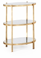 494171-G Jonathan Charles Fine Furniture JC Modern - Luxe Large Eglomise & Gilded Iron Three-Tier Table