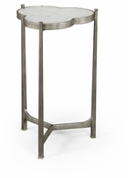 494172-S Jonathan Charles Fine Furniture JC Modern - Luxe Eglomise & Silver Iron Trefoil Lamp Table