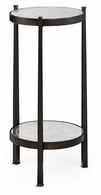 494173-B Jonathan Charles Fine Furniture JC Modern - Luxe Eglomise & Bronze Iron Wine Table