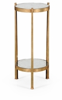 494173-G Jonathan Charles Fine Furniture JC Modern - Luxe Eglomise & Gilded Iron Wine Table