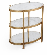 494174-G Jonathan Charles Fine Furniture JC Modern - Luxe Small Eglomise & Gilded Iron Three-Tier Table