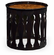 494204-EBF Jonathan Charles Moroccan Moorish Sofa Table (Ebonised)