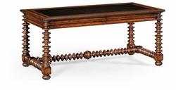 494212-WAL Jonathan Charles Bingley Gadrooned Writing Table