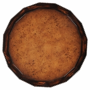 494222-EBF Jonathan Charles Bingley Gadrooned Burl Topped Side Table