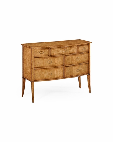 494300 Jonathan Charles Luxe Biedermeier Bow Front Chest of Drawers (Birch)