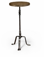 494344-BBL Jonathan Charles Fine Furniture JC Edited - Anvil Textured Brass & Iron Lamp Table