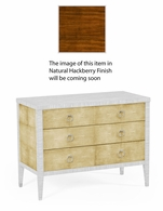 494363-DLF Jonathan Charles Fine Furniture JC Modern - Bayswater Ivory Faux Shagreen 3-Drawer Chest Of Drawers
