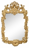 494372-GIL Jonathan Charles Versailles Finely Carved & Gilded Rococo Style Mirror
