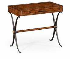 494467-RBO Jonathan Charles Fine Furniture JC Edited - Anvil Hammered Iron Side Table With Drawer