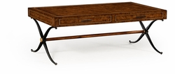 494509-RBO Jonathan Charles Fine Furniture JC Edited - Anvil Hammered Iron Coffee Table