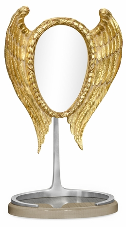 """494531-GSH-STS JC Modern Opera Classical """"Winged"""" Dressing Mirror With Stainless Steel"""