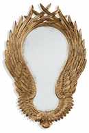 """494533-GIL Jonathan Charles Fine Furniture JC Modern - Icarus Classical """"Winged"""" Wall Mirror"""