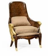 494537-WAL-F001 Jonathan Charles Fine Furniture JC Modern - Icarus Empire Style Winged Chair, Upholstered In Mazo