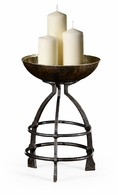 494547-BBL Jonathan Charles Fine Furniture JC Edited - Anvil Wrought Iron Candle Stand