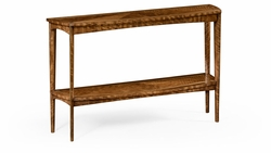 494687-DLF Jonathan Charles Fine Furniture JC Modern - Cosmo Hyedua And Brass Curved Console