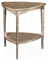 494688-ESF Jonathan Charles Fine Furniture JC Modern - Eclectic Silver Espresso Triangular Side Table