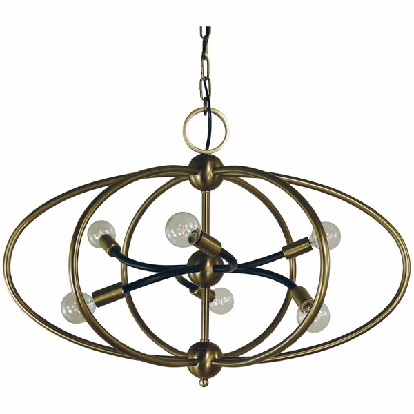 4948 Framburg Orbit 6 Light Chandelie