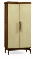 494919-LSH Jonathan Charles Fine Furniture JC Modern - Cosmo Hyedua And Celadon Tall Drinks Cabinet