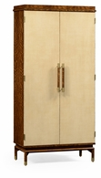 494919-LVH Jonathan Charles Fine Furniture JC Modern - Cosmo Hyedua And Ivory Tall Drinks Cabinet
