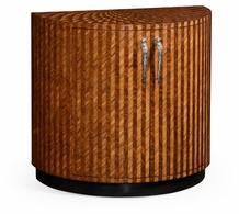 494958-ZEB Jonathan Charles Fine Furniture JC Modern - Icarus Feather Inlay Cocktail Cabinet