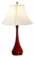 494968-LHF Jonathan Charles Fine Furniture JC Modern - Indochine Red Lacquered Table Lamp