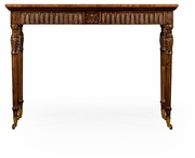 495008-SAM Jonathan Charles Windsor Napoleon III Style Bureau Plat With Fine Inlay