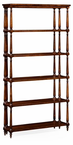 495021-WAL Jonathan Charles Country Farmhouse Five Tier Etagere With Triple Column Supports