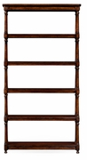 495022-WAL Jonathan Charles Country Farmhouse Five Tier Etagere With Double Column Supports