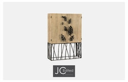 495035-LMA Jonathan Charles Fine Furniture JC Edited - Artisan Falling Leaves Drinks Cabinet