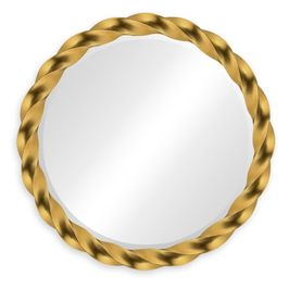 """495076-35D-GIL Jonathan Charles Contemporary/Modern JC Modern - Twist Collection 35"""" Gilded Twisted Mirror"""