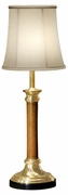 495115-L002 Jonathan Charles Buckingham Brass And Leather Table Lamp