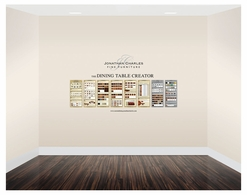 495139 Jonathan Charles Point of Sales Small Custom Dining Graphic Display