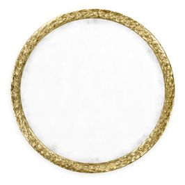 """495149-WTG Jonathan Charles Traditional Versailles Collection Carved And Water Gilded Gold Leaf 48"""" Round Hanging Wall Mirror"""