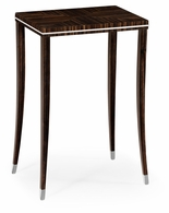 495150-AMA Jonathan Charles Fine Furniture JC Modern - Soho Macassar Ebony Lamp Table With White Brass Detail
