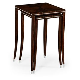495160-AMA Jonathan Charles Contemporary/Modern JC Modern - Soho Collection Macassar Ebony Nesting Tables With White Brass Detail