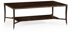 495166-AMA Jonathan Charles Fine Furniture JC Modern - Soho Macassar Ebony Coffee Table With White Brass Detail