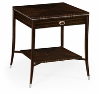 495167-AMA Jonathan Charles Fine Furniture JC Modern - Soho Macassar Ebony End Table With White Brass Detail
