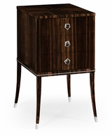 495175-AMA Jonathan Charles Fine Furniture JC Modern - Soho Macassar Ebony Bedside Chest With White Brass Detail