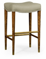 495182-DLF-F001 Jonathan Charles Fine Furniture JC Modern - Cosmo Cosmo Bar Stool, Upholstered In Mazo