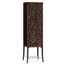 495189-AMA Jonathan Charles Contemporary/Modern JC Modern - Soho Collection Macassar Ebony Drink Cabinet With White Brass Inlay