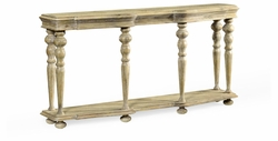 495303-LMA Jonathan Charles Fine Furniture JC Edited - Artisan Rectangular Limed Acacia Console