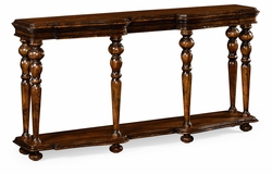 495303-RWL Jonathan Charles Fine Furniture JC Edited - Artisan Rectangular Rustic Walnut Console